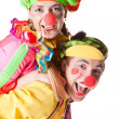 Stock Photo: Two smiling clowns