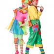Couple of happy clowns — Stock Photo #18649099
