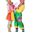Stock Photo: Couple of clowns