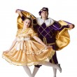 Stock Photo: Guy and girl dressup as Prince and Princess