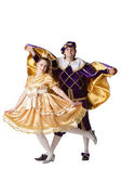 Guy and girl dressup as Prince and Princess — Stock Photo