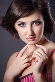 Portrait of beautiful female model — Stockfoto