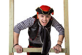 Clown in a pirate suit — Stock Photo