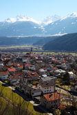 Zirl, market town in the district of innsbruck land, Austria — Stock Photo