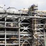 Drilling platform under construction — Stock Photo