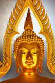 Golden buddha head statue in Thailand — Stock Photo
