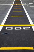 Små landningsbanan på däcket på hangarfartyg — Stockfoto