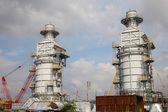 Processing column for offshore platform under construction — Stock Photo