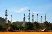 Oil and Gas Refinery Plant under Construction — Stock Photo