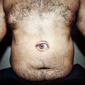 monstrous belly fat — Stock Photo