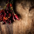 Dried hot red chilies — Stock Photo #17696131