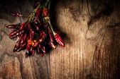 Quentes pimentas vermelhas secas — Foto Stock