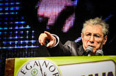 Umberto Bossi at Lega Nord meeting — Stock Photo