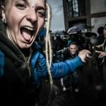 May Day manifestation rave party — Stock Photo