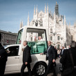 Pope Benedict XVI visits Milan in 2012 — Stock Photo
