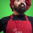Royalty-Free Stock Photo: Happy bearded chubby chef