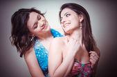 Dwie piękne dziewczyny — Zdjęcie stockowe