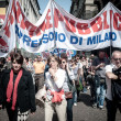 April 25 2013 celebration of liberation in Milan - Stock Photo