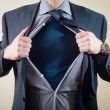 Stock Photo: Superhero businessman