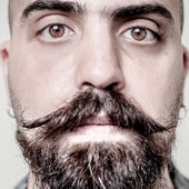 Long hipster barbe et moustache — Photo