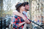 Young hipster lovers — Stock Photo