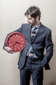 Podnikatel s hodinami — Stock fotografie