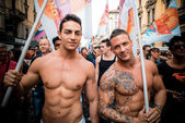 Gay-Pride-Parade in Mailand am 29. Juni 2013 — Stockfoto