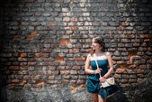 市内の美しい女性 — ストック写真