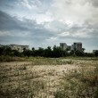 Desolate suburb landscape — Stock Photo