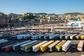 Genoa port in agoust 2013 — Stock Photo