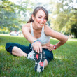 Beautiful woman fitness  — Stock Photo