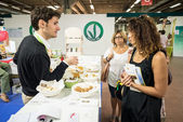 Vegan Fest at Sana Bologna on September 2013 — Stock Photo