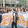 Milan students manifestation on October, 4 2013 — Foto de Stock
