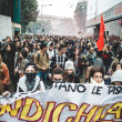 Milan students manifestation on October, 4 2013 — Stock Photo