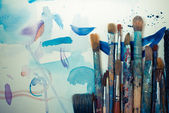 Abstract brushes and paint — Stock Photo