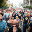 Постер, плакат: Gay pride held in milan on june 2013 thousans of people gay lesbian trans took the streets to fight for their rights