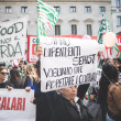 National Strike of tourism in Milan on October, 31 2013 — Stock Photo #34602031