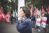 National Strike of tourism in Milan on October, 31 2013 — Zdjęcie stockowe