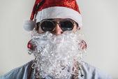 Funny santa claus babbo natale — Stock Photo