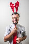 Grappige santa claus babbo natale — Stockfoto