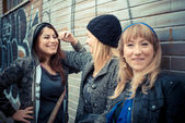 Three friends woman — Stock Photo
