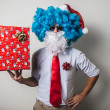 Funny santa claus babbo natale  — Stock Photo