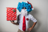 Funny santa claus babbo natale — Stockfoto