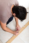 Young man bricolage working — Stock Photo