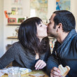 Stock Photo: Couple in love eatingin lunch