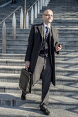 Successful elegant fashionable businessman — Stock Photo