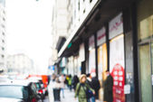 Blurred city and people — 图库照片