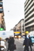 Blurred city and people — Stok fotoğraf
