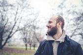 Bearded man at the park — Stock Photo