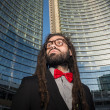 Stock Photo: Stylish elegant dreadlocks businessman